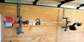 1-Place Trimmer Rack<br> for Enclosed Trailers <br> ***Free Shipping***