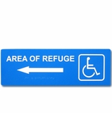 "4"" x 12"" Raised & Braille Directional Sign (Left Arrow)"
