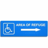 "5"" x 15""  Raised & Braille Directional Sign (Right Arrow)"
