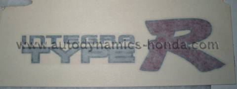 Honda ST7 Type R Rear Sticker