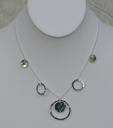 Argento Vivo Hammered Circle Necklace
