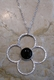 Argento Vivo Open Flower Onyx Necklace
