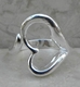 Alura  Silver Collection Heart Dainty Ring