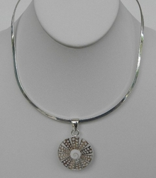 Charles Albert Shell & Silver Neckwire Necklace
