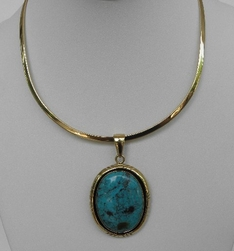 Charles Albert Alchemy Turquoise Neckwire Necklace