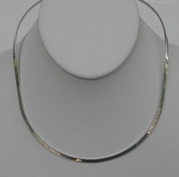 Charles Albert Sterling Silver Oval Neckwire