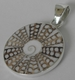 Charles Albert Collection Shell Inlay Pendant