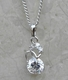 Alura  Silver Collection Crystal Drop Necklace
