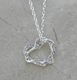 Alura  Silver Collection Heart Crystal Necklace