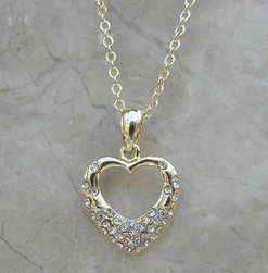 Alura Gold Vermeil Heart Crystal Necklace