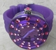 VaBene Sole Oversize Purple & Crystal Watch
