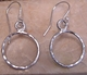 Argento Vivo Open Circle Hammered Silver Earrings