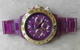 VaBene Chronograph Watch Rose Gold Bezel Purple Face & Band