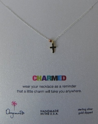 Dogeared Charmed Silver Cross Necklace