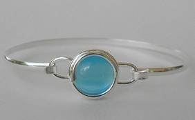 Charles Albert Beach Glass Bracelet Sky Blue