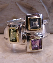 Michou Stacking Rings Square Stones