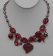 Otazu Red Crystal Heart Necklace