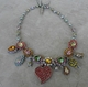 Otazu Red Heart Multi Mix Crystal Necklace