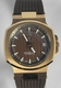 IKE Vintage Lady Gold Vermeil Brown Silicone Watch