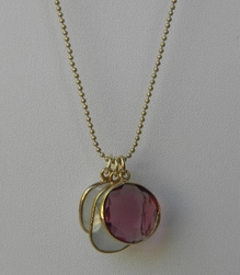 Jemma Sands Gold Dipped Pink Multi Stone Necklace