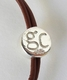Good Charma Silver Dragonfly Charm Brown Leather Bracelet