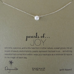 Dogeared Necklace Large Pearls of Joy Gold Dipped