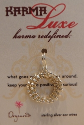 Dogeared Karma Earrings Medium