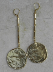 Kenneth Jay Lane Long Coin Earrings