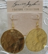 Kenneth Jay Lane Large Hammered Coin Earrings