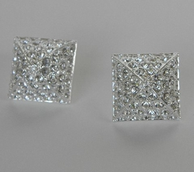 CC SKYE Pave Pyramid Earrings