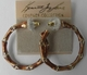 Kenneth Jay Lane Brown Hoop Earrings