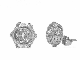 Freida Rothman Crystal SS Stud Earrings