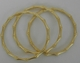 Kenneth Jay Lane Thin Gold Bamboo Bracelets
