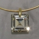 Kenneth Jay Lane Square Clear CZ Neckwire Necklace