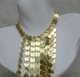 Kenneth Jay Lane Gold Coin Long Bib Necklace