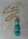 Kenneth Jay Lane Ming Jade Nugget Necklace