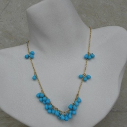 Kenneth Jay Lane Necklace Turquoise Cluster Necklace