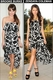 Tolani Morgan Black & White Floral Dress