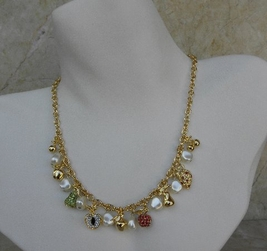 Kenneth Jay Lane Fruity Charm Necklace