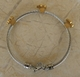 Alura  Silver Collection Gold Flower Station Cable Bracelet