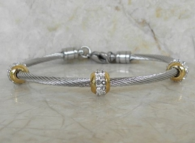Alura Collection Gold Crystal Station Bracelet