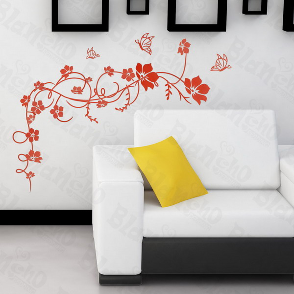 Flower Vine - Large Wall Decals Stickers Appliques Home Decor