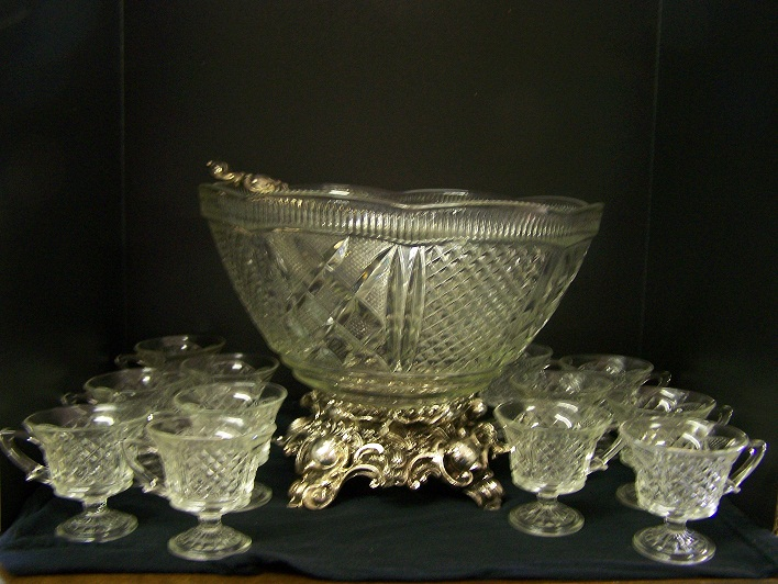 Vintage Colony Crystal Punch Bowl Set
