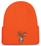 Watch Hat- Orange - Deer Head