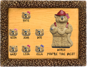 Firefighter Plaques with up to 48 Co-workers