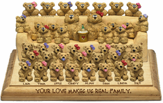 Sofa on Plaque Design 29 for 31 to 42 Bears
