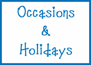 Occasions & Holidays