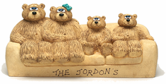 Couch for 4 Bears Figurine