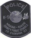 Miami-Dade County Public Schools K9 Florida Subdued Patch
