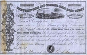 Steubenville & Indiana RR Stock 1858